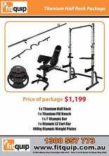 $1,199 TITANIUM HALF RACK PACKAGE - $21 P/WK FREE DELIVERY* Brisbane City Brisbane North West Preview