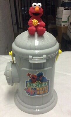Sesame Street Buckets (2003 Sesame Street 4D Movie Magic Popcorn Bucket *SEE PICS* RARE)