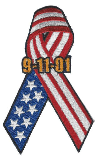 American Flag Ribbon 9-11 NEW Fire Patch Always Remember