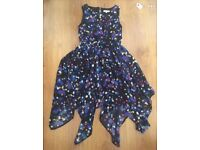 7-8 girls clothes selection of dresses and hoodies