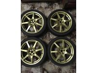 "Subaru Impreza Alloy Wheels 18"" Speedline Replica"