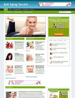 Anti Ageing Blog Website With Affiliates Store Free Domain Installation