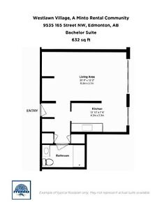 One Bedroom Suites WestLawn Village for Rent - 9535 165... Edmonton Edmonton Area image 17