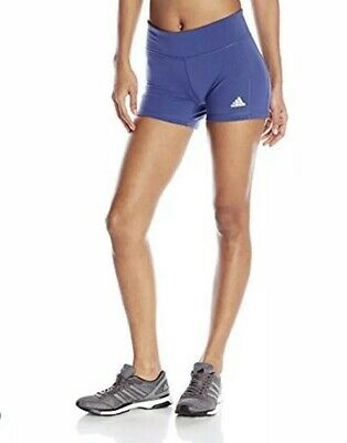 New Adidas Womens Climastudio Short Tights Active Gym Wear Sz XL Purple NWT
