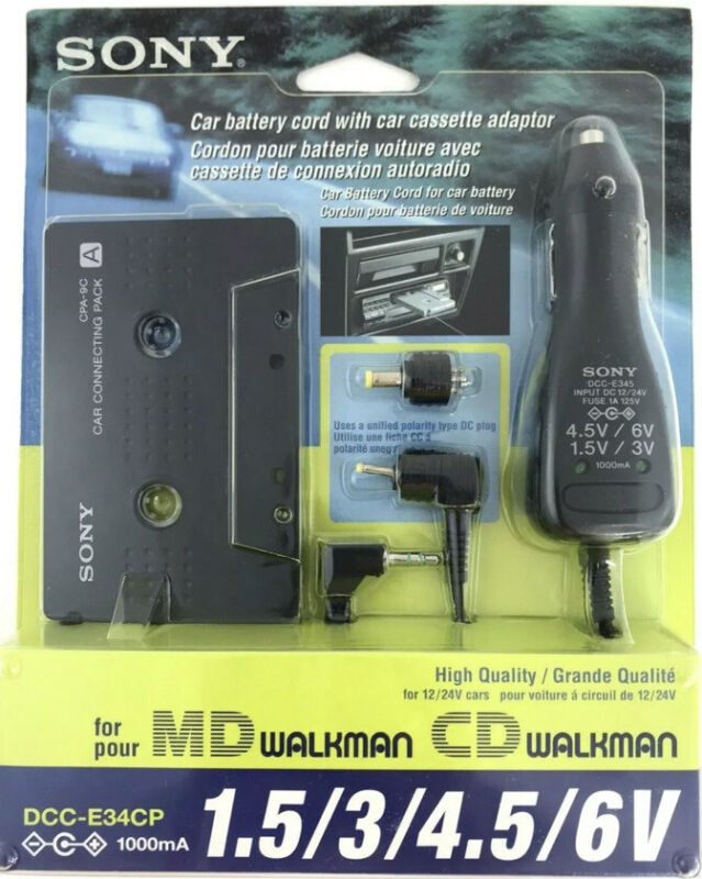 Sony DCC-E34CP / CPA9C Car Cassette Adapter / Power Kit for CD/MD Walkman 12/24V