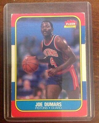 1986 Fleer Card  27 Of 132 Joe Dumas Nba Pistons Ungraded Shoptradingcards Com