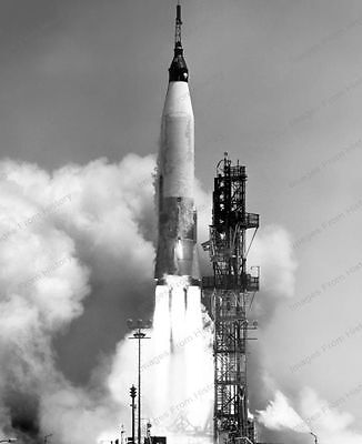 8x10 Print NASA Mercury Atlas Test Launch 1961 #nas33