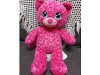 Pink leopard soft pink toy