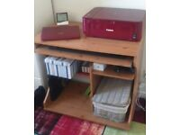 Computer Desk Trolley - Pine Effect , used in excellent condition