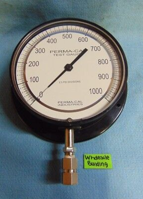 """PERMA-CAL TEST GAUGE, 6"""" MIRRORED DIAL, 2.5 PSI, REAR FLANGE, 100RTM11A21-PLV"""