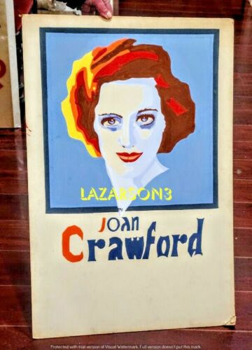 JOAN CRAWFORD 1930S ORIGINAL ART DECO MOVIE POSTER PAINTING