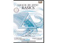 Gracie Jiu Jitsu Basics dvds --- brazilian bjj gjj barra grappling training gi ufc mma self defence