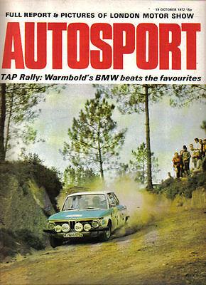 Autosport Oct 19 1972 Citroen GS Clan Crusader Earls Court Motor Show TAP Rally