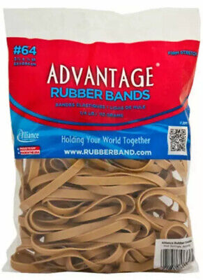 Advantage Rubber Bands Postal Size 64 3-12 X 14 Heavy Duty 14 Lbs Big Bag