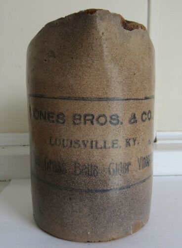 Stoneware Pitcher Jones Bros. & Co - Louisville, KY - C - 1900