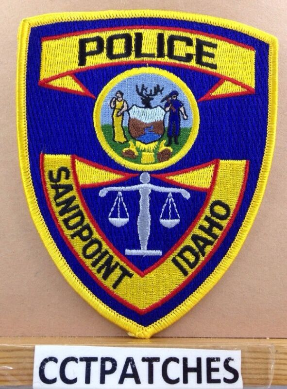 SANDPOINT, IDAHO POLICE SHOULDER PATCH ID