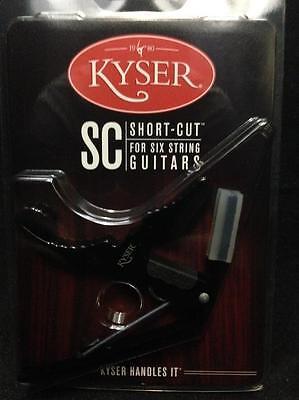 Kyser KG3BA 6 SC Short Cut Electric Guitar Capo Black *