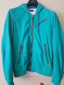 DIESEL Mint Green Leather Jacket