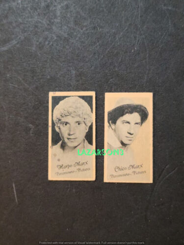 MARX BROTHERS HARPO CHICO 3 RARE ORIG PARAMOUNT FILMS PENNY WEIGHT CARDS 1930s
