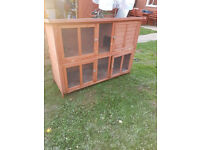 Double Layer wooden Rabbit Cage