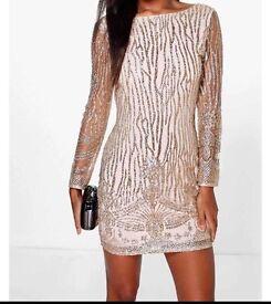 Boutique Faye sequin print bodycon dress