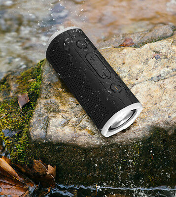 Rockville ROCK LAUNCHER BK Portable Waterproof Bluetooth Speaker for Audiophiles