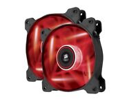 Corsair AF120 Red LED Quiet Edition 2 pack fans boxed