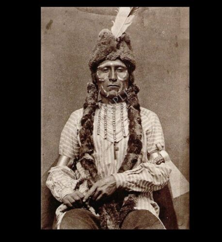 Cheyenne Warrior Black Tongue PHOTO Southern Cheyenne Native American 1875