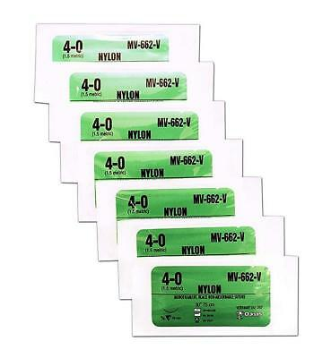 Practice Teaching Suture Kit Nylon 40 Suture Thread With Needle Pack Of 7