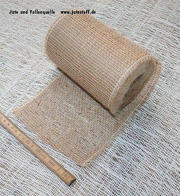 Tischläufer Tischband ca. 16cm breit,  25meter Rolle aus Jute Sackleinen natur