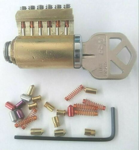 Rare 6 Pin Kwikset Keyway Cutaway Lock Cylinder With Rekeyable Pins