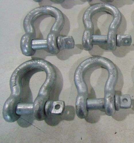 """4- 7/8"""" RCP Chain Safety Clevis Shackles with Screw Pin WLL 6-1/2 Ton Shackle 1"""""""