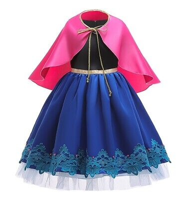 Childrens Kids Girls Princess Anna Dress Gown Halloween - 2t Mädchen Halloween Kostüme