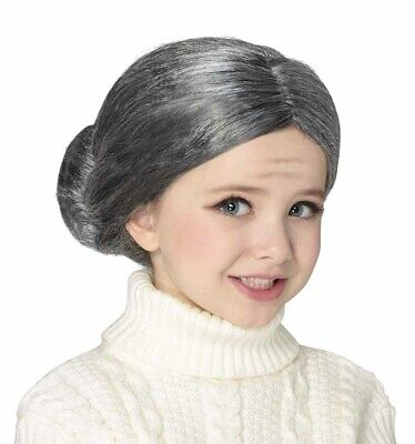 Funny Wigs For Kids (Funny Child Granny Cosplay Hair Wig for Halloween, Cosplay, Role)