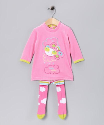 Adorable Dudu Toddler Girls Velour Dress & Tights 24 Months 2t $56