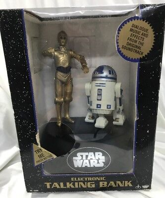 Star Wars Electronic Talking Bank C3p0 R2d2 Think Way Toys 1997 Coin Activated