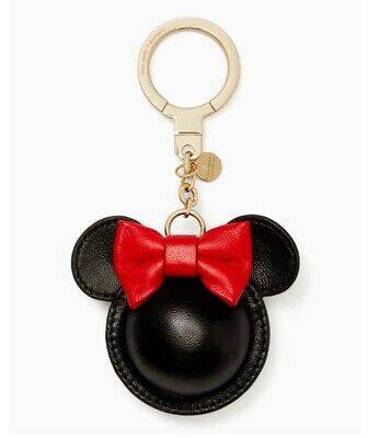 NWT Kate Spade New York Minnie Mouse Red Bow Keyfob Key Chain Keychain Bag Charm