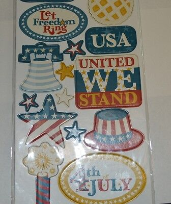 Independence Day chipboard sheet by Creative Imaginations. NEW