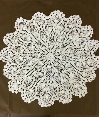 CENTRINO UNCINETTO 100%cotone lavorato a mano cm 45 e cm 60 arredo tessile casa