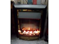 Fantastic Black & Brass Electric Fire