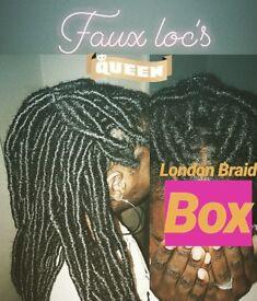 LONDON BRAID BOX - Box Braids/Plaits, Faux Loc's, PRICE £50-£90 PLEASE READ THE WHOLE AD!!!