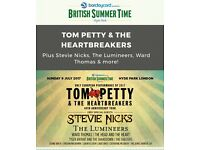 2 x SOLD OUT TOM PETTY HYDE PARK TERRACE TICKETS