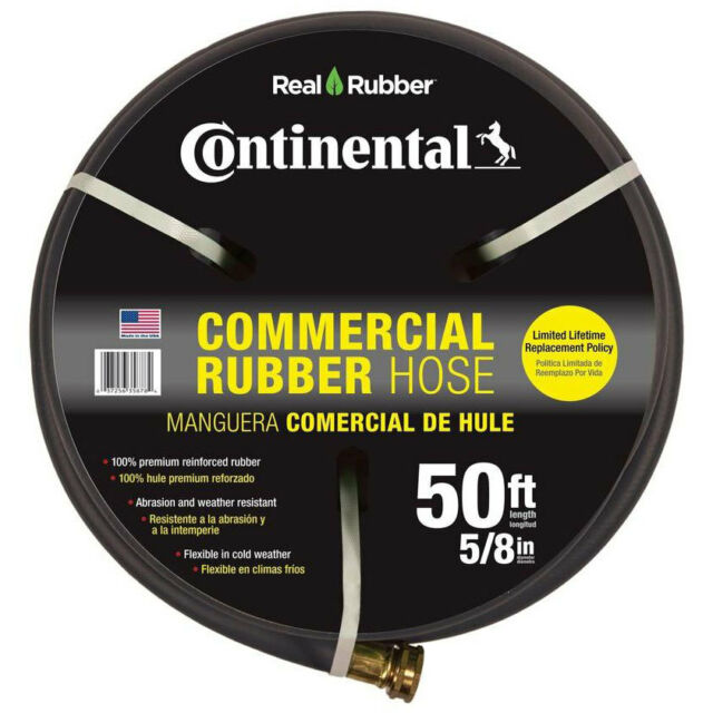 CONTINENTAL ContiTech Black Commerical Rubber 50 Feet Premium