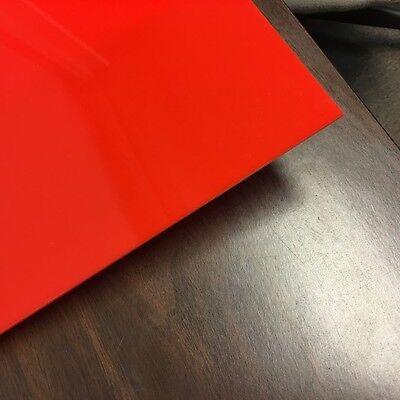 Candy Orange Red Translucent Acrylic Plexiglass Sheet 18 X 6 X 12 2662