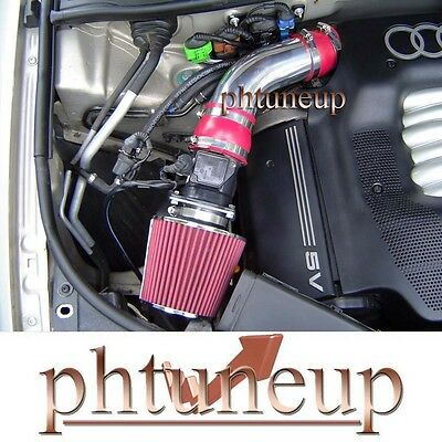 1994-2001 AUDI A4 A6 QUATTRO CABRIOLET 2.8 2.8L V6 AIR INTAKE KIT SYSTEMS RED