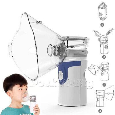 Kids Portable Ultrasonic Nebulize Mist Machine Inhaler Mouthpiece Mask Kits