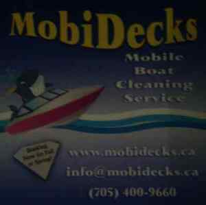Mobi Decks mobile boat cleaning service