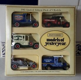 Box of limited edition 1982 5x models