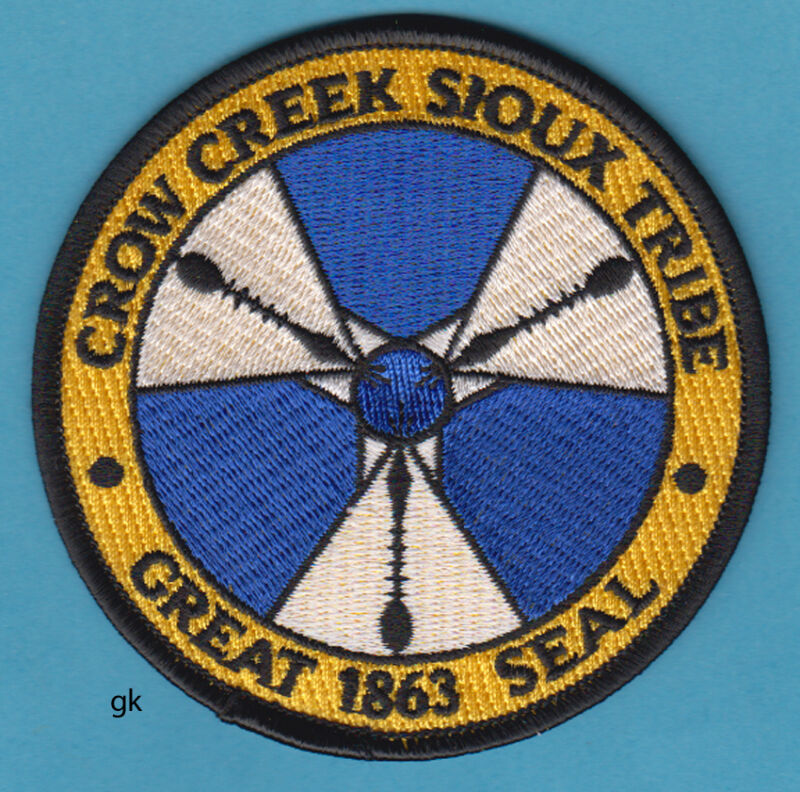 GREAT SEAL OF THE CROW CREEK SIOUX SOUTH DAKOTA TRIBAL SHOULDER PATCH