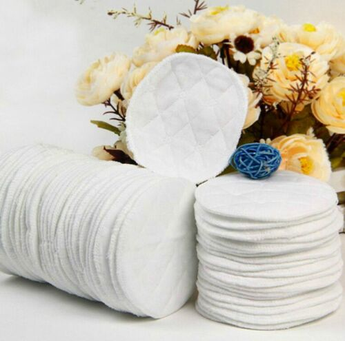 12PCS Reusable Washable Maternity Cloth Nursing Breast Soft Pads NEW US